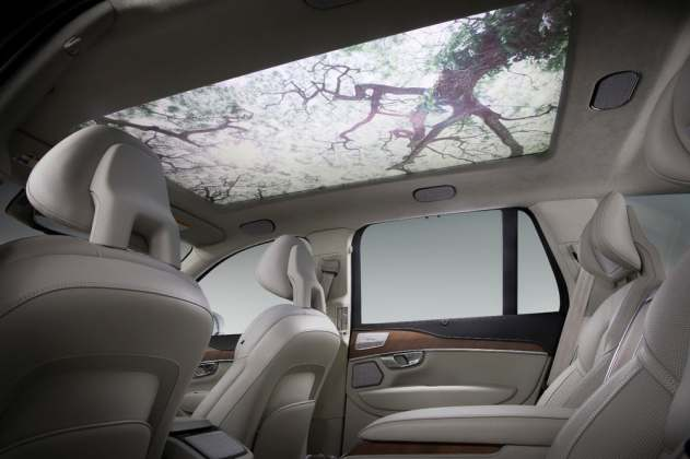 Harman Moodscape car screen with trees