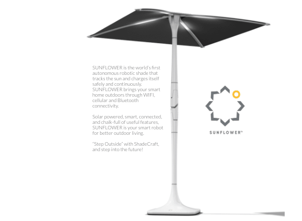 solar sunflower sustainable umbrella